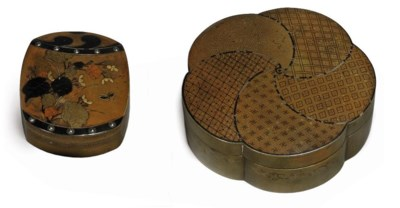 TWO INLAID BRASS KOGO [INCENSE
